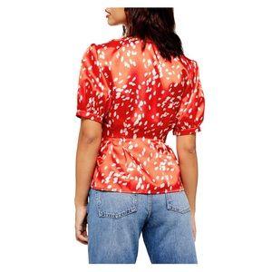 Top shop, satin peplum blouse